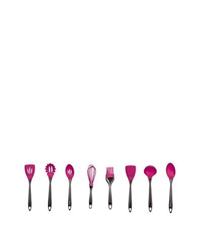 Culinary Edge by Kalorik 8-Piece Silicone Utensil Set, Fuchsia