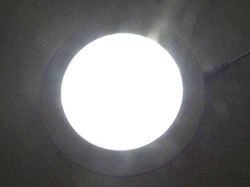 E-Age 9 Watt Round Led Panel Light Recessed Kitchen Bathroom Lamp Day White Lighting