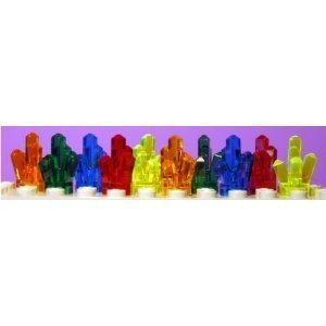 Lego Power Miners 10 Crystals in 5 Difrent Coulors by LEGO