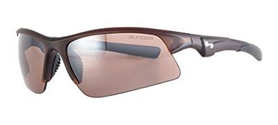 Sundog Zone 495032 Sunglasses, Crystal Brown Frame/Brown Lens