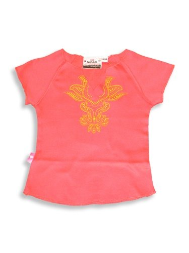 Wild Mango - Infant Baby Girls Short Sleeved Top, Salmon, Yellow - Buy Wild Mango - Infant Baby Girls Short Sleeved Top, Salmon, Yellow - Purchase Wild Mango - Infant Baby Girls Short Sleeved Top, Salmon, Yellow (Wild Mango, Wild Mango Apparel, Wild Mango Toddler Girls Apparel, Apparel, Departments, Kids & Baby, Infants & Toddlers, Girls, Outerwear & Activewear)