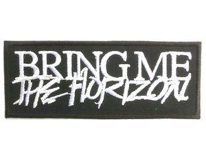 """Toppa ricamata con logo """"Bring Me the Horizon"""", da stirare o cucire, 10 cm"""