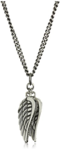 King Baby Men'S Double Wing Pendant Necklace front-143852