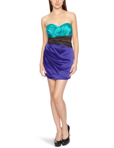 Lipsy DR05522 Strapless Color Block Women's Dress