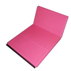 Amazon.com : The Beam Store Pink 2-Inch Folding Gym Mat (4 x 6-Feet