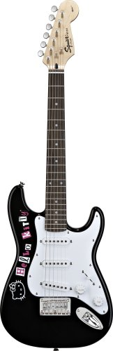 Squier by Fender スクワイア ミニエレキギター Hello Kitty Mini Stratocaster ハローキティ Black