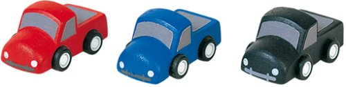 Plan Toys Set of 3 Wooden Mini Trucks