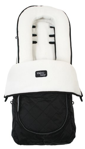 Valco Baby Universal Fit Deluxe Foot Muff Fleece, White/Black