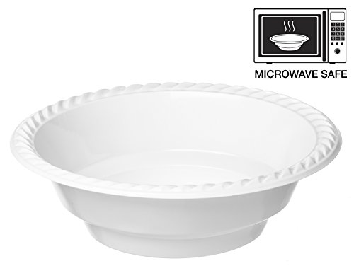 Propack 18 Ounce Disposable Bowls Microwave Safe 50 Count White (Microwave Safe Disposable Cups compare prices)