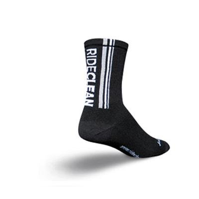 Buy Low Price SockGuy Classic 6in Ride Clean Black Cycling/Running Socks (B001L3ZC8K)