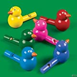 12 Wooden Bird Whistles