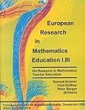 European Research in Mathematics Education I.III (German Edition) (3925386556) by Krainer, Konrad