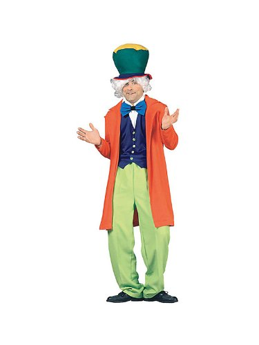 Alice in Wonderland - Mad Hatter Adult Halloween Costume Size 50 X-Large (XL)
