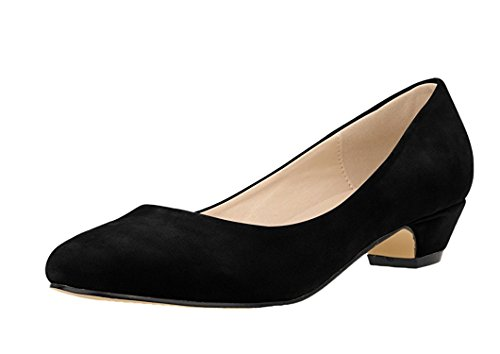Yinggaisbn Shoes Womens Sassy Pointed-Toe Slip On Low chunky Heel Pump Shoes Black37 M EU / 7 B(M) US (Sassy Bottle Opener compare prices)