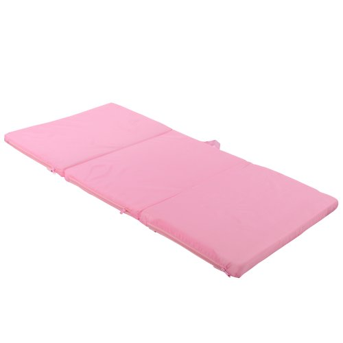 TecTake Mattress for baby travel cot 120 x 60 cm pink