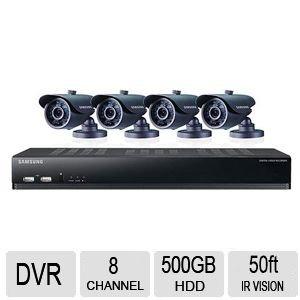 Samsung SDS-V4041 8-Channel DVR Security System (Black)
