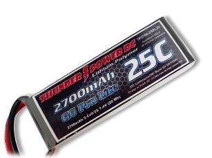2700mAh 2S 7.4V G6 Pro Lite 25C LiPo