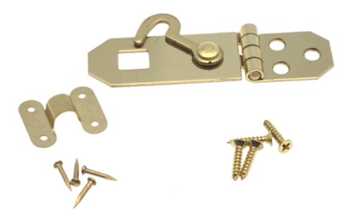 Buy Solid Brass Hasp with Hook, 3/4″ x 2 3/4″