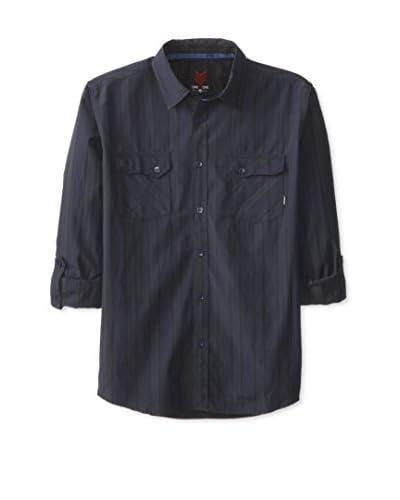 ONE90ONE Men's Apgar Double Pocket Striped Shirt