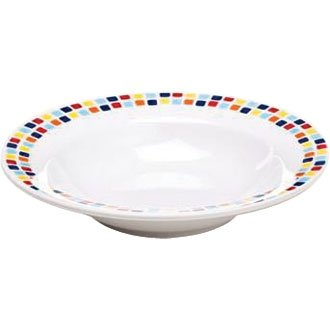 Melamine Tableware 195mm Pasta Bowl (Box 48) - lightweight and virtually unbreakable. Ideal for schools, parties and care homes