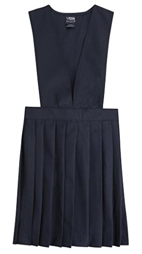 French Toast School Uniforms V-Neck Pleated Jumper Girls Navy 2T front-776261