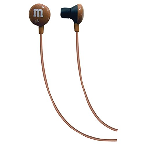 Maxell 190804 M&M'S Lightweight Earbuds, Brown