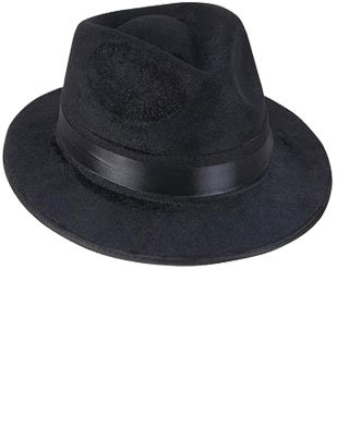 Negro Pimp Gangsta Blues Brothers Costume Hat Fedora Un tamaño (se ajusta a mayoría de adultos y adolescentes)