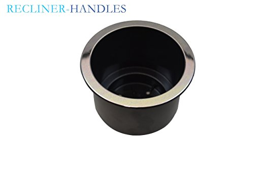 Recliner-Handles Replacement Two Tier Cup Holder for Sofa Sectional Couch Cup Holder with Chrome Lip