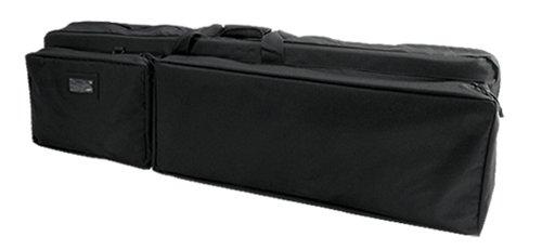 Vism By Ncstar Double Rifle Case - Black Color - Fits Ar15 M4 S&W M&P 15-22 Umarex Hk416 Sig556 Sig522 Beretta Cx4 Storm Kel Tec Sub2000 Su16 Su22 G22 Ruger 10/22 77/22 Mini14 Mini30 Sr556 Sr22 Pc4 Pc9 Rifle Hi-Point 4095 9Mm .40 .45 Carbine