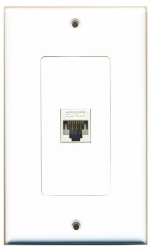 Riteav new single port decorative network wall plate white tooless f f hardware electrical - Decorative wall plates electrical ...