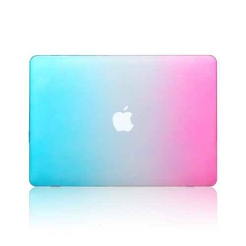 """Dashuhuwai 13-Inch Rubberized Hard Case Cover For Apple Macbook Pro 13.3"""" With Retina Display A1502 / A1425/(A1278) (Newest Version, No Cd-Rom Drive) (Rainbow With Keyboard Skin & Screen Protector)"""