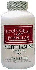 Allithiamine 50 mg 250 Capsules by Ecological Formulas
