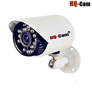 "HQ-Cam Bullet Security Camera- High Resolution 700 TVL Outdoor 1/3"" Pixel Plus 960H DSP Ir Cut Filter Built-in Ip66 Weatherproof Day Night CCTV Home Video Security Camera(Real 700TV Line, Clear Night Vision)"