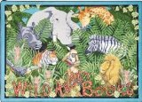 "Joy Carpets Kid Essentials Language & Literacy Wild About Books Rug, Multicolored, 5'4"" x 7'8"""