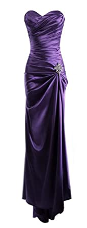 Long Satin Bandage Evening Gown Formal Bridesmaid Prom