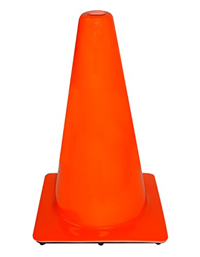 3M 90128-00001-10 PVC Non Reflective Traffic Safety Cone, Constructed of Extra-Heavy PVC, 18-Inch, Orange, 10-Pack (Safety Cones 18 Inch compare prices)