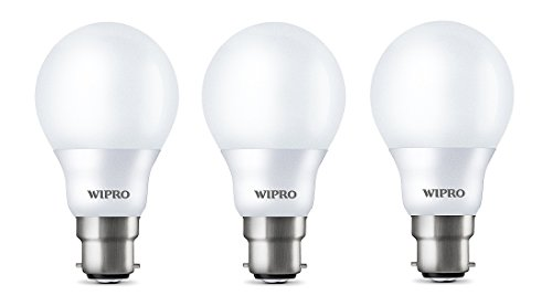 Wipro Garnet 7W LED Bulb (White, Pack of 3)