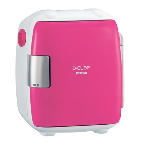 TWINBIRD 2電源式コンパクト電子保冷保温ボックス D-CUBE S ピンク HR-DB06P