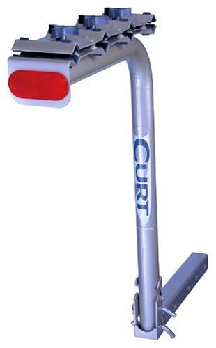 Curt Manufacturing 18019-08 4 Bike Rack Folding 2X2 Receiver - Light Pewter