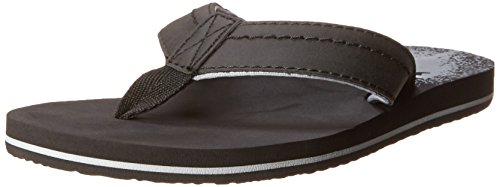 Sanuk Kids Straight Shot Boys Flip Flop ,Black,1-2 M US Litt
