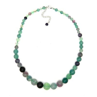 Journey Sterling Silver Flourite Bead Necklace