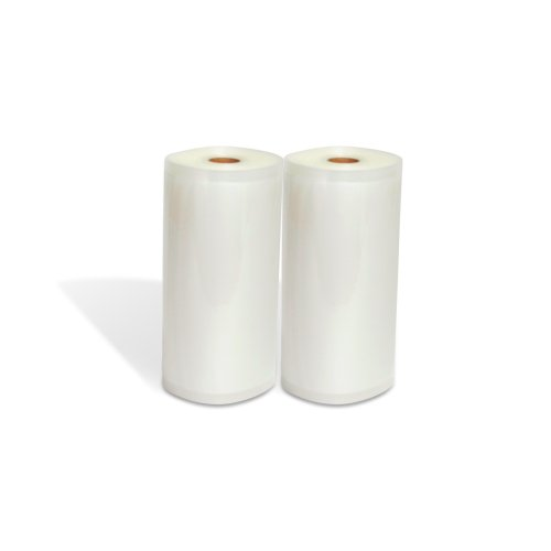 "Vacuum Sealer Rolls, Two (2), Large 8"" X 50', Commercial Grade Kitchen Storage And Seal Bags For Food Saver"
