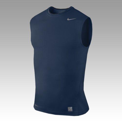 Nike Core Compression Maglietta da uomo senza maniche, Ossidiana, XL