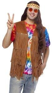 60s Hippie Fringe Vest (male) Adult Halloween Costume Accessory Size 46-50 X-Large (XL)