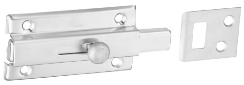 "National Hardware V860 3"" Slide Bolt In Satin Chrome front-570536"
