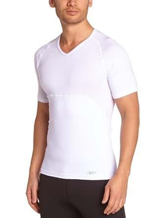 Dim Tee Shirt Sculptant Slim Action - Maillots De Corps - Homme - Blanc (Blanc) - FR : Large (Taille fabricant : 4)
