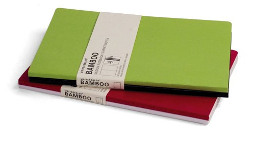 Writersblok Bamboo Medium Notebook, Plain, Pack of 2, 5.5 x 8.25-Inches (WBB804)