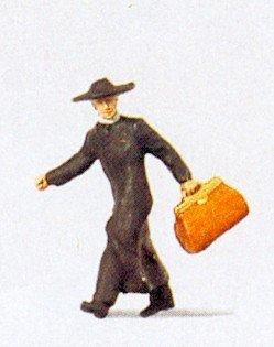 Priest w/Bags in a Hurry HO Preiser Models