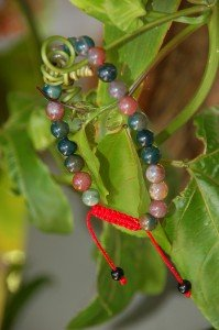Blood Stone Wrist Mala/ Bracelet for Meditation