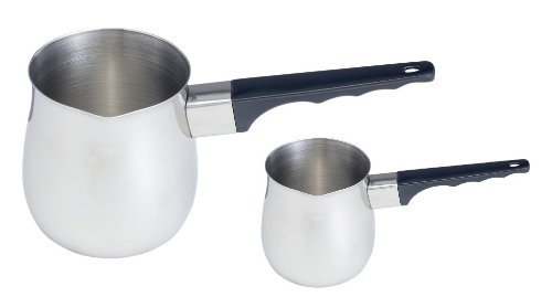 (Set Of 2) 12 Oz. And 24 Oz. Stainless Steel Turkish Coffee Decanter / Butter Warmer